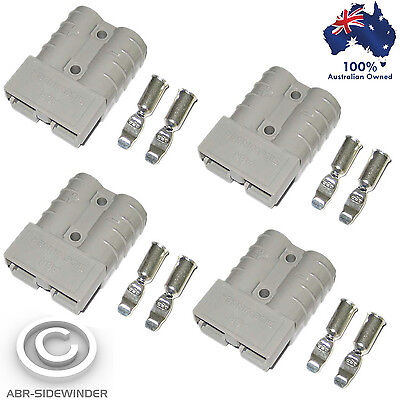 4X Anderson Plugs 50 Amp 'grey'