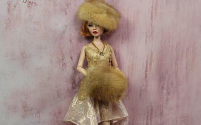 """~Pastel Real Mink Fur Hat and Muff for Tonner's 16"""" Fashion dolls & Gene~dimitha"""