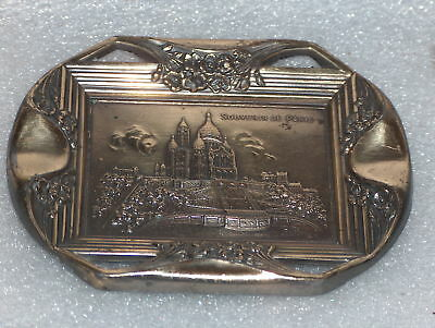 Art Deco Gilt Orleans Bronze Ashtray By Ruffoni, France