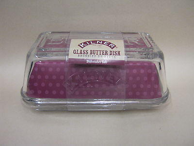 New Kilner Glass Butter Margarine Spread Dish With Cover 0025.350