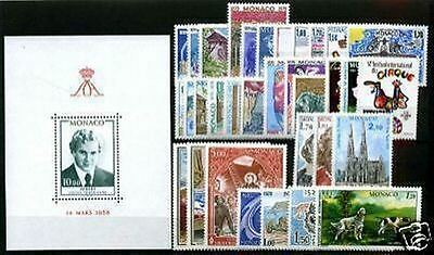 MONACO STAMP ANNEE COMPLETE 1979 : 34 TIMBRES NEUFS xx TTB