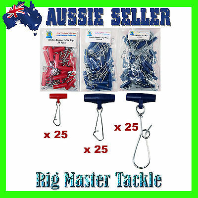 Easy Ezy Ezi Rigs Sinker Runners 75 Mixed Pack Small Large & X Large Fishing