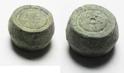 ZURQIEH -aa6970- ANCIENT BYZANTINE BRONZE WEIGHT . 8.43GM. 600 A.D