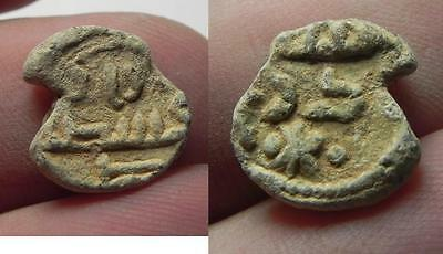 ZURQIEH -aa6976- ANCIENT ISLAMIC. UMMAYYED LEAD BULLA. TOKEN. 700 .D