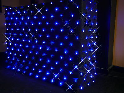 BLUE LED STARCLOTH FOR THE 4FT DJ STAND/ BOOTH 200+LEDs PROFESSIONAL STAR CLOTH