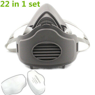 22 pcs For 3200 Dust Gas Mask N95 Protection Filter Painting Spraying Respirator