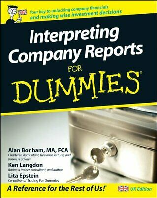 Interpreting Company Reports for Dummies - UK Edit... by Epstein, Lita Paperback