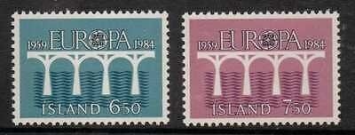 Iceland Sg643/4 1984 Europa Mnh