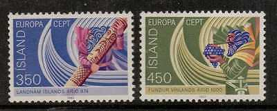 Iceland Sg609/10 1982 Europa Mnh