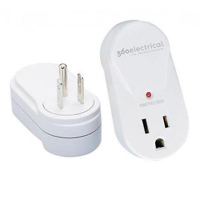 360 Electrical 1-Outlet Compact Rotating Surge Protector, 360 deg. Rotating