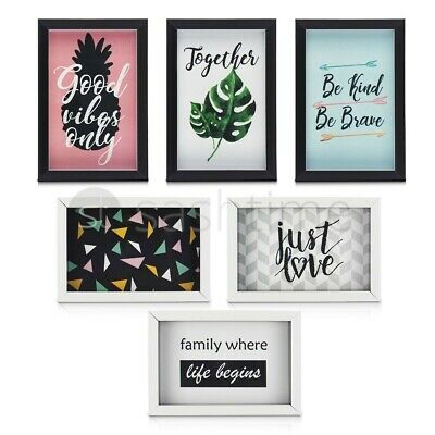 6 Multi Photo Frame Family Love Friends Party Wall Mounted Picture Album Frames