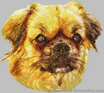 Large Embroidered Zippered Tote - Tibetan Spaniel DLE2531