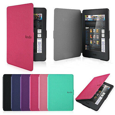 Thin Magnetic Leather Smart Case Cover for Amazon Kindle Paperwhite All versions