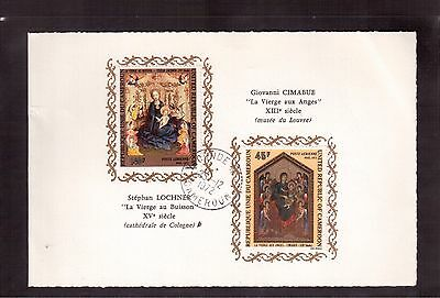 Cameroon 1972 # C193/94 Set 2 Stamps Used On Card, Christmas Paintings !!