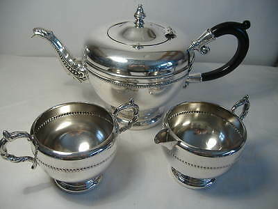 3 Piece Silver Plated Tea Set By Viking