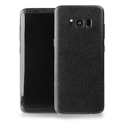 Samsung Galaxy S8 3M Vinyl Protective Skin Decal Sticker (Black Leather Texture)