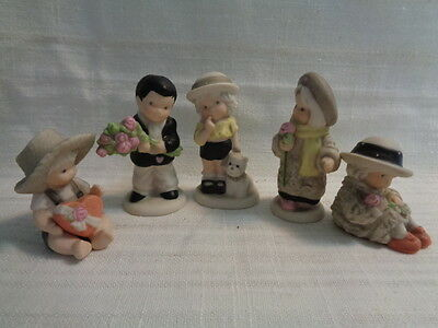 "Lot Of 5 Kim Anderson ""pretty As A Picture"" Figurines"