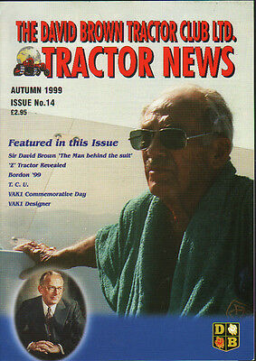 "Issue No14 David Brown Tractor Club ""Tractor News"" Magazine Autumn 1999"