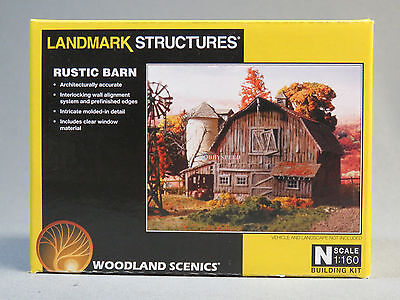 WOODLAND SCENICS RUSTIC BARN BUILDING KIT N SCALE train farm silo dairy 5211 NEW