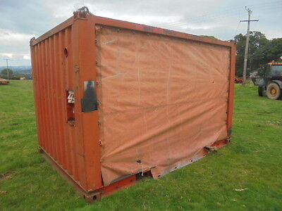 Shipping Container Shed Generator Pump Store Sgeeted Sides 12 Ft X 8 Ft
