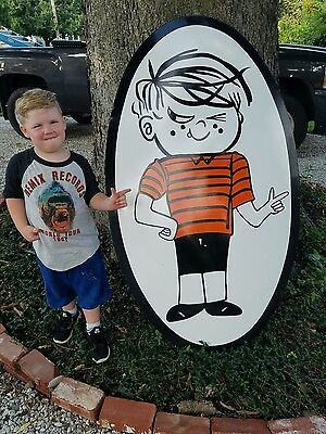 large dennis the menace soda a&w porcelain sign dairy queen amusement park