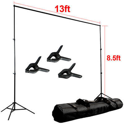 Huge  13 x 8.5 ft Photo Pro Studio Support Stand Backdrop Photography Stand Kit