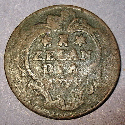 COA 1779 New York Penny Dutch Colonial Zeeland mint Copper Colonial Penny