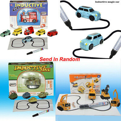 Magic Smart Inductive Tank / Car Follow Any Line You Draw Toy Children Hot Sale