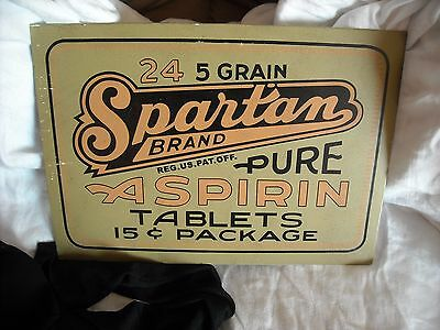 vintage old look metal sign asprin bathroom office dr picture wall decor decor