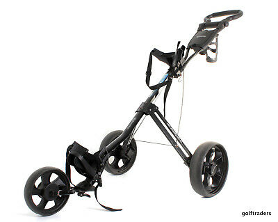Smoothy Feather Lite Folding Golf Buggy 5.5Kg -With Brake -Black -Used #e1213