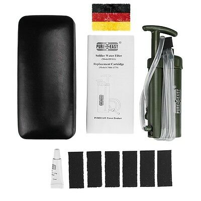 2000L Water Filter Purifier Soldier Survival Emergency Hiking Camping Adventurer