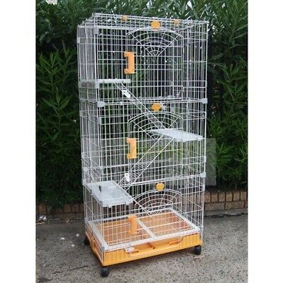 Vebo JUMBO 3-level Collapsible Cat and Ferret Animal Cage with wheels