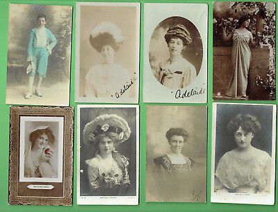 #D314. #2.  Seven  Lady & One Boy Postcards