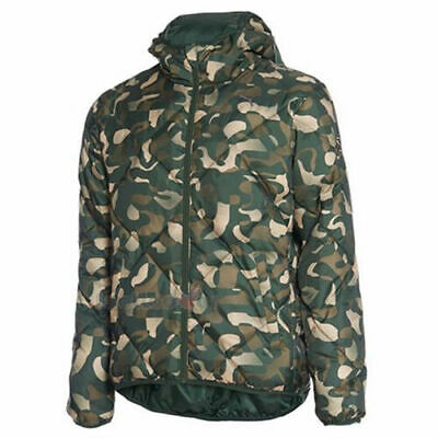 Puma Fun Hooded Padded Winter Zip Up Thermal Jacket Green Camo 830124 26 M1