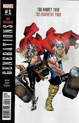 Generations Unworthy Thor & Mighty Thor #1 Coipel 1:25 Variant (Marvel) Comic