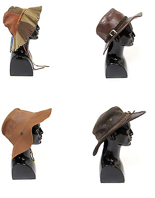 16 X Mens Bush Hats Leather Suede Brimmed Vintage Wholesale Joblot Mix Bulk