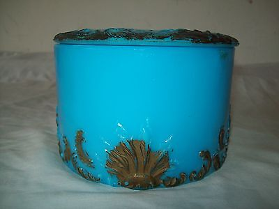 scarce French opaline glass dresser vanity  jar 5.5 ""