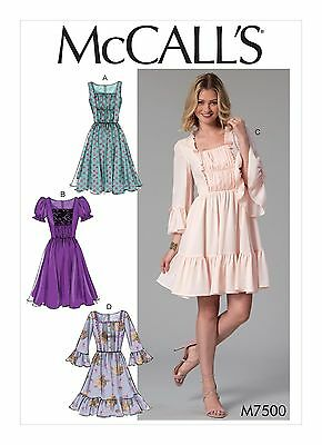 McCalls SEWING PATTERN M7500 Misses Dresses 6-14 Or 14-22