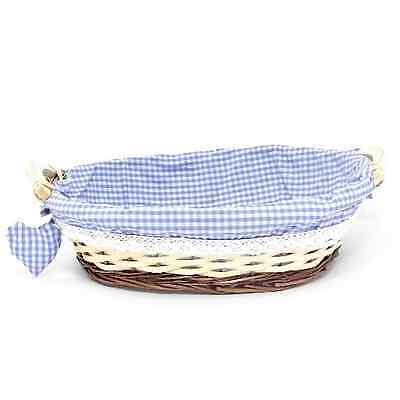 Cloth Lined Hamper Basket - Perfect for a Baby Boy Birth Gift - NEW