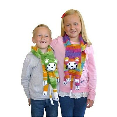 Wendy Four Legged Friends Scarf Knitting Kits Monkeys, Cats, Dogs, Bears, Sheep