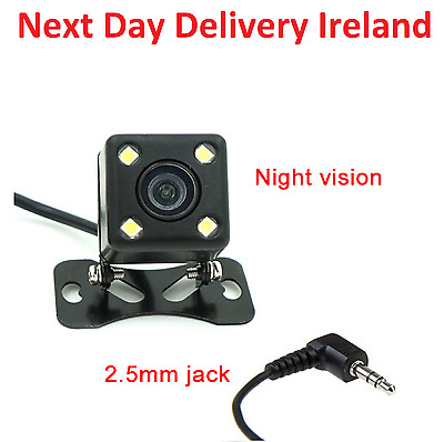 2.5mm Jack Car Rear View Reverse Backup Night Vision Camera Parking Monitor