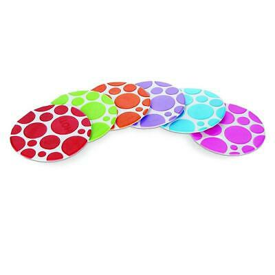 Munchkin Grippy Dots - Pack of 6 (Multi) - helps to prevent slipping in the bath