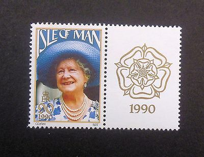 Isle Of Man Sg448 The Queen Mother 1990 Mounted Mint