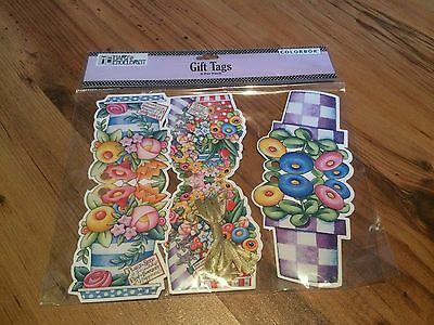 Mary Engelbreit NIP 6  Gift Tags Colorbok  Posies