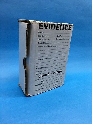 """Forensics Evidence Boxes (Lot Of 25) White Rectangle 4"""" x 6"""""""