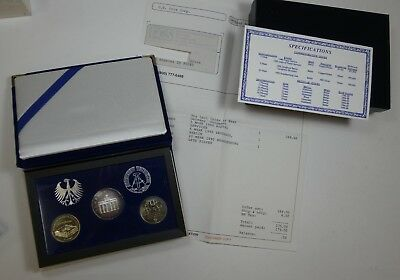 1990 Last Coins of East Germany 3-Coin SET  ~ Berlin Mint 1 Silver Coin w/COA
