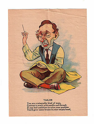 Vintage Colored Print Advertising ''tailor '' !!