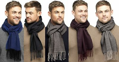 Mens Fine Soft Herringbone Textured Weave Scarf by RJM