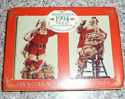 1994 Limited Edition COCA COLA 2 Decks Nostalgia Playing Cards, Sealed NEW