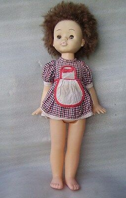 Rare Vintage Walking Plastic Doll In Original Dress, Ussr - Ukraine?